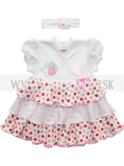 Šaty - 56-62 bieloružová